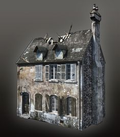 WWII Building 02 by mitchGLADNEY Digital Art / 3-Dimensional Art / Scenes / Exteriors©2008-2014 mitchGLADNEY
