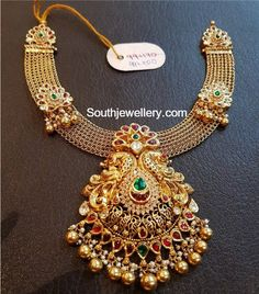 Antique Necklace latest jewelry designs - Page 59 of 333 - Indian Jewellery Designs Gold Jewellery Design, Gold Jewelry, Handmade Jewellery, Photo Jewelry, Earrings Handmade, Sterling Silver Bracelets, Gold Necklace, Silver Ring, Silver Necklaces