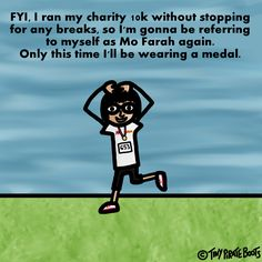 I am an actual running genius now.