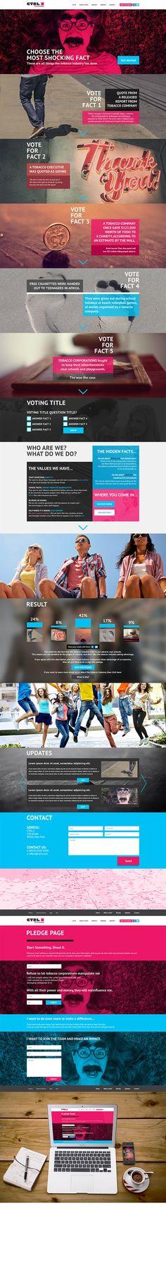 Kampania na rzecz osób uzależnionych od palenia, miałem przyjemność przygotować projekt graficzny strony / OnePage /