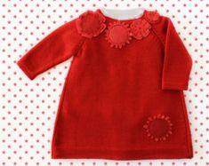 Maglia bambino vestito fiori rosa misto del feltro. di tenderblue