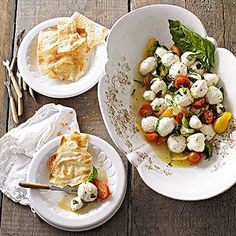 Instead of using fresh mozzarella for this appetizer, try another fresh soft cheese, such as queso fresco or feta.