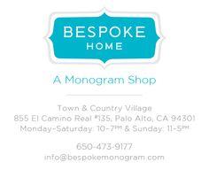 Bespoke Home - gorgeous monogramming