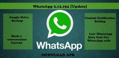 WhatsApp Update : Include Custom Notification , Low Data Settings , Google Drive Backup , Mark Unread . :http://www.techrenewed.com/2015/07/24/whatsapp-update-include-custom-notification-low-data-settings-google-drive-backup-mark-unread/