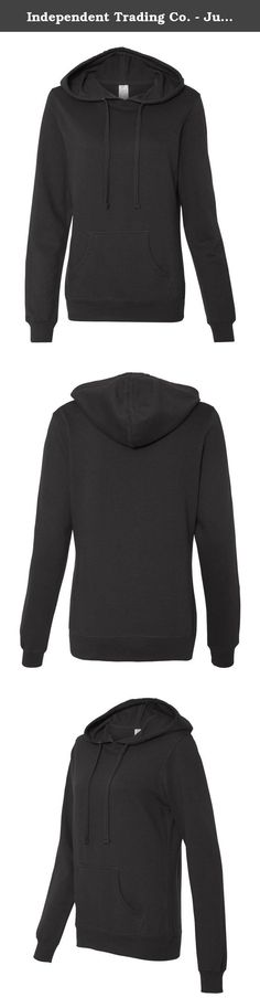 Independent Trading Co. - Juniors' Heavenly Fleece Lightweight Pullover Hooded Sweatshirt - SS650. 6.5 oz., 60/40 cotton/polyester, 24 singles Gunmetal Heather is 75/25 cotton/polyester Split-stitch double-needle sewing throughout Metal eyelets with flat drawcord and unlined hood Front pouch pocket 1x1 rib cuffs and waistband Twill neck tape .