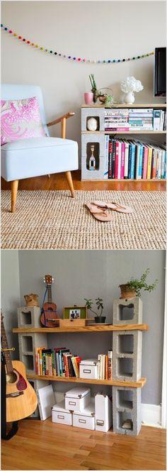 Diseño de Interiores: Ideas to Decorate with Concrete Blocks / Ideas para utilizar los bloques de concreto