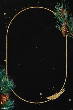 Blank round golden Christmas frame vector | premium image by rawpixel.com / PLOYPLOY Merry Christmas Wallpaper, Holiday Wallpaper, Winter Wallpaper, Digital Backgrounds, Wallpaper Backgrounds, Wallpapers, Winter Background, Christmas Background, Empty Frames