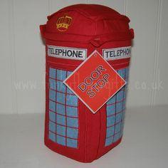 British Iconic Red Canvas Fabric Post Box Or Telephone Box Door Stop - London | eBay