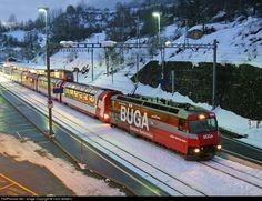 646 RHB- Rhätische Bahn RhB Ge 4/4-III at Filisur, Switzerland by Chris Walters