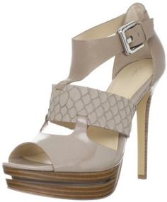 Calvin Klein :  Calvin Klein Women's Roxanna Fish Nappa Two tone Patent Platform Sandal ~  4.8 out of 5 stars   (4 customer reviews) List Price:	$ 149.00 ~  Price:	$111.97 & FREE Shipping. ~  You Save: $ 37.03 (24%)