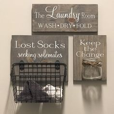 This item is unavailable Laundry Room Combo Set Lost Socks Seeking Solemates wood Laundry Room Remodel, Laundry Decor, Laundry Room Signs, Laundry Closet, Laundry Room Organization, Laundry In Bathroom, Rustic Laundry Rooms, Organizing, Laundry Room Quotes