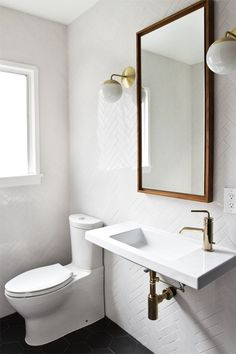 If I ever have the chance to redo the downstairs bath...  bathroom renovation // sarah sherman samuel