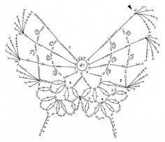 мотив бабочка схема