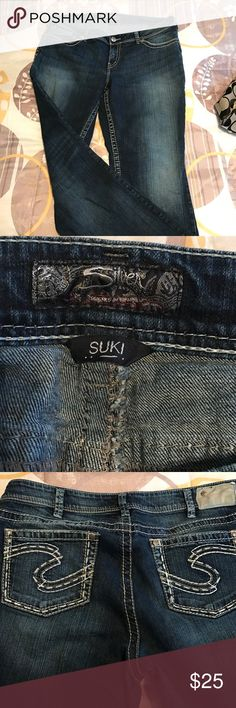 "Silver women's jeans These size 18, 30"" length Silver ""Suki"" jeans are in excellent condition. Worn only once or twice. There is no fraying on the bottoms. Silver Jeans Jeans Boot Cut"