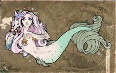 mermaid stamp | Mermaid Tramp Stamp Colored by ~kerinewton on deviantART