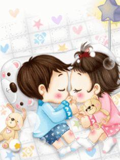 MY CUTE BLOG: wallpaper/Animation Cute Kid Couple in Love