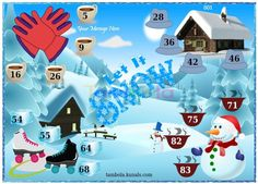 Winter Anywhere 4  in 9x4 format :Templates Tickets | Tambola Housie