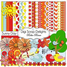 Buy 2 Get 1 Free CU Sunny Day Digital by DigiScrapDelights on Etsy, $4.00
