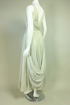 1950's Sara Fredericks Silk Chiffon Gown