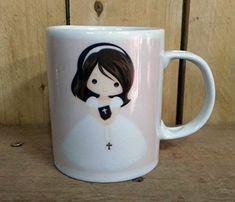 Mugs, Tableware, First Holy Communion, Brunettes, Invitations, Dinnerware, Tumblers, Tablewares, Mug