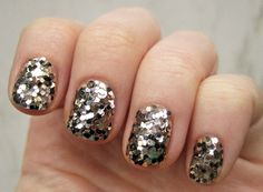 Sequined Nails for the Holidays!