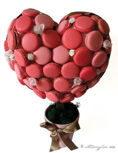 Heart Shaped Macaron Tree