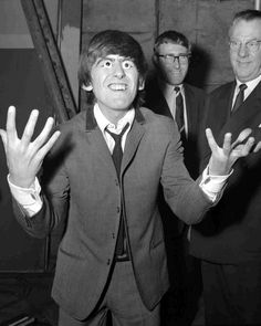 1964 - George Harrison in A Hard Day's Night film (backstage photo).