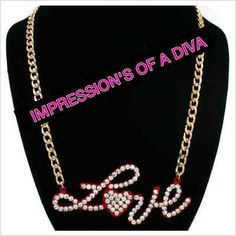 """RED """"LOVE"""" GOLD CHAIN NECKLACE   $19.99"""