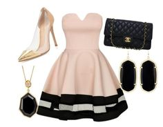 """""""Untitled #180"""" by carogrv626 ❤ liked on Polyvore featuring Gianvito Rossi, Chanel, SOPHIE MILLER and Kendra Scott"""