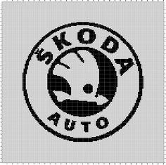Skoda (150x200) Care Logo, Mother And Baby, Perler Beads, Cross Stitch Patterns, Logos, Crochet, Crafts, Transportation, Branding