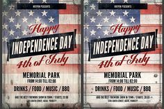 Independence Day Flyer Template by Hotpin on @creativemarket