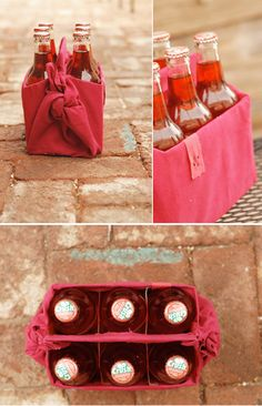 A perfect hostess #gift... fill this #DIY drink carrier with your fave bottles, and tote away!