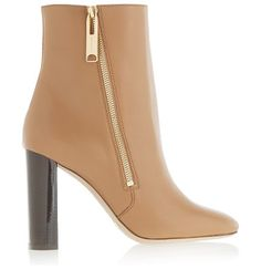 On SALE at 60% OFF! london leather ankle boots by Burberry London. Italian sizing Dark -brown heel measures approximately 100mm/ 4 inches . Camel leather . Zip fastening along side Bur...