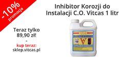 Jeszcze jeden produkt w promocji, który uchroni instalacje przed problemami: http://sklep.vitcas.pl/pl/p/Inhibitor-Korozji-do-Instalacji-C.O.-Vitcas-1-litr/193