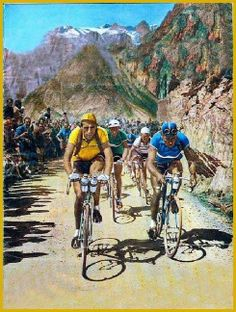 Colorized image of Fausto, in yellow and in the mountains!