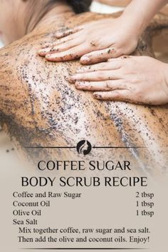 DIY Skin Care Recipes : Picture Description Every woman wants beautiful, glowing skin. Exfoliation is a good idea because it keeps your skin happy and healthy. There are plenty of simple DIY body scrubs recipes that you can easily make at home with Body Scrub Recipe, Diy Body Scrub, Exfoliating Body Scrub Diy, Sugar Scrub Recipe, Sea Salt Body Scrub, Sea Salt Scrubs, Diy Scrub, Beauty Care, Beauty Skin