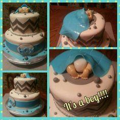 Boy baby shower cake..