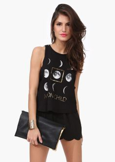 Moon Child Tank | my name means Moon and my middle name night! I think i need this tank top ;)