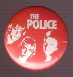 Button - Police - Portait in red