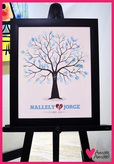 Árbol de Huellas para Boda, Our Wedding Tree
