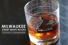 Milwaukee Map Rocks Glass from theuncommongreen