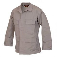 Tru-Spec Polyester-Cotton BDU Jacket, Khaki, Large, Long Length 1310025