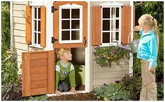 Build Something with These Free Woodworking Plans: Free Playhouse Plans Kids Playhouse Plans, Outside Playhouse, Backyard Playhouse, Build A Playhouse, Wooden Playhouse, Outdoor Playhouses, Woodworking Tutorials, Woodworking Plans, Woodworking Patterns