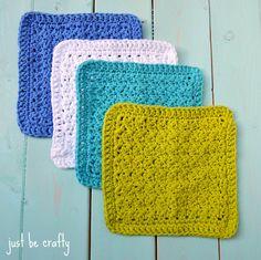 Textured Dishcloth Crochet - FREE Pattern!!