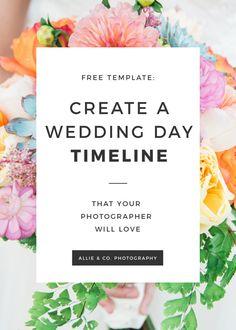 Wedding Day Itinerary, Wedding Day Checklist, Wedding Schedule, Wedding Day Tips, Free Wedding, Plan Your Wedding, Perfect Wedding, Wedding Ideas, Wedding Decorations