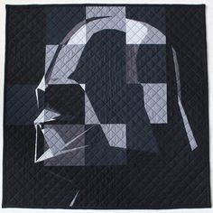Vader Quilt Vader Quilt by Angela Bowman of www. I designed and made this for a Vader-loving girl as part of the May The Mini Quilt Swap. I loved making it! Star Wars Quilt, Boy Quilts, Mini Quilts, Star Wars Crochet, Star Wars Crafts, Niklas, Nerd Crafts, Quilting Designs, Quilting Ideas