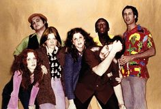 Original SNL Cast Of The 70's--Lorraine Newman, John Belushi, Jane Curtin, Gilda Radner, Dan Akroyd, Garret Morris and Chevy Chase.