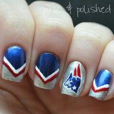 Football nails!!! Go Patriots!!! Minus the patriots. .. Forth of July nails