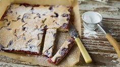 Stjernekjeks-kake med vanilje og bringebær