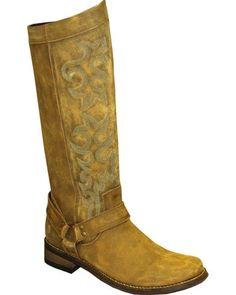 """Rawhide by Abilene Women's 12"""" Tall Side Zipper Harness Boots - Round Toe   Boot Barn"""